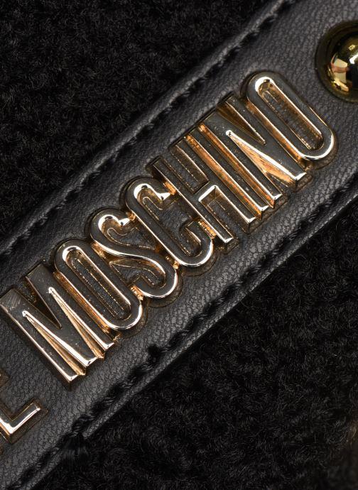 Bolsos de mano Love Moschino STAY WARM EVENING BAG Negro vista lateral izquierda