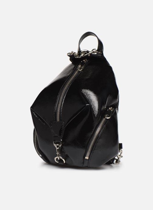 Zaini Rebecca Minkoff CONVERTIBLE MINI JULIAN BACKPACK NAPLACK Nero modello indossato
