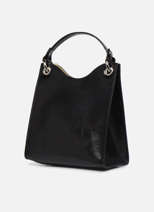 Sacs à main Rebecca Minkoff SMALL RING TOTE NAPLACK Noir vue portées chaussures