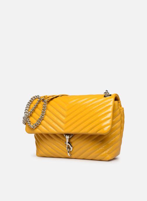 Bolsos de mano Rebecca Minkoff EDIE FLAP SHOULDER BAG NAPLACK Amarillo vista del modelo