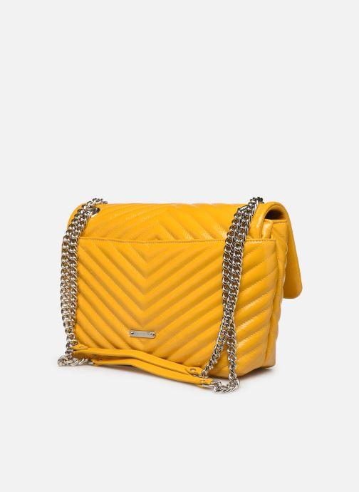 Bolsos de mano Rebecca Minkoff EDIE FLAP SHOULDER BAG NAPLACK Amarillo vista lateral derecha