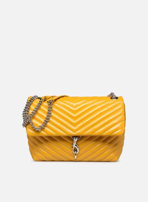 Bolsos de mano Rebecca Minkoff EDIE FLAP SHOULDER BAG NAPLACK Amarillo vista de detalle / par