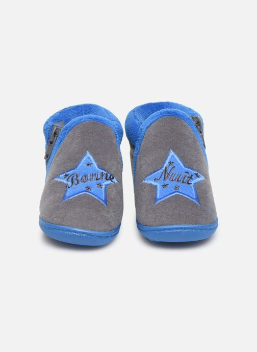 Pantofole Isotoner Botillon zip velours Grigio immagine 3/4