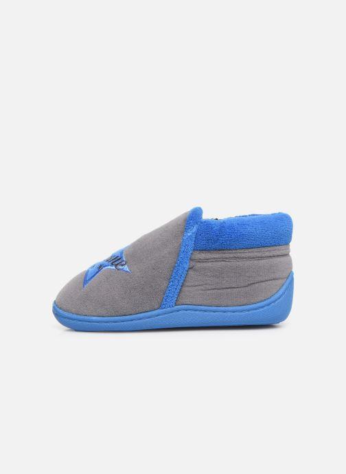 Slippers Isotoner Botillon zip velours Grey front view
