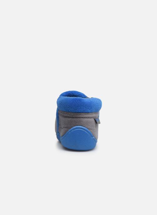 Chaussons Isotoner Botillon zip velours Gris vue droite