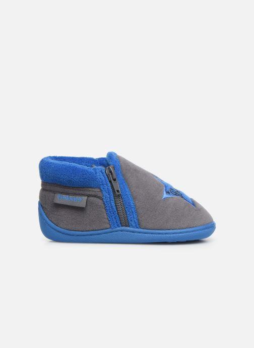 Slippers Isotoner Botillon zip velours Grey back view