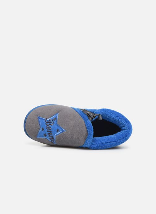 Pantofole Isotoner Botillon zip velours Grigio immagine sinistra