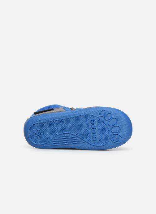 Slippers Isotoner Botillon zip velours Grey view from above