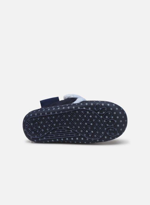 Pantoffels Isotoner Botillon velcro suédine Blauw boven