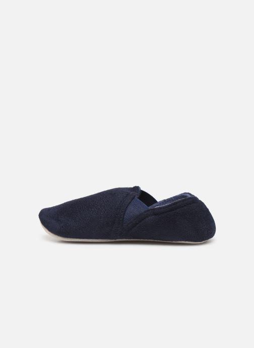 Slippers Isotoner Sans-gêne suédine Blue front view
