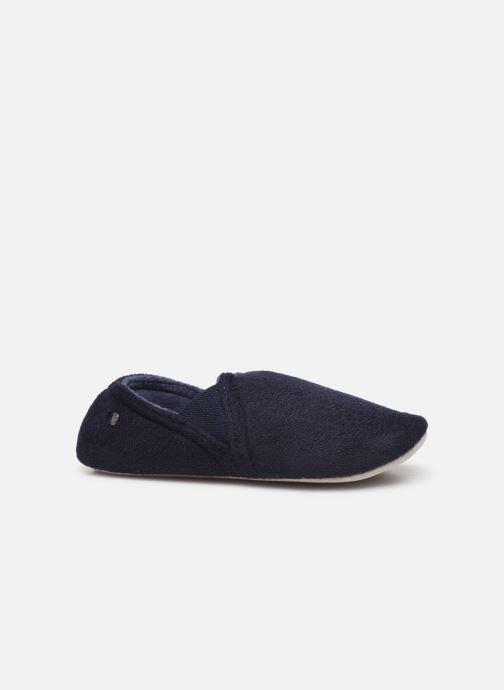 Slippers Isotoner Sans-gêne suédine Blue back view
