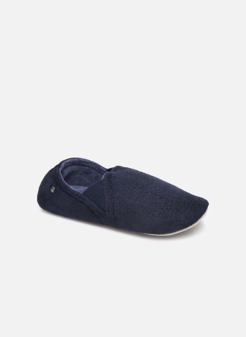 Chaussons Isotoner Sans-gêne suédine Bleu vue détail/paire
