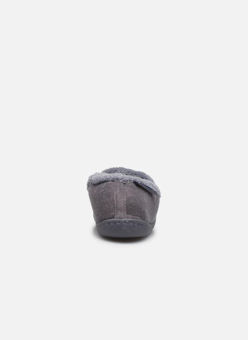 Pantoffels Isotoner Charentaise polyvelours Grijs rechts