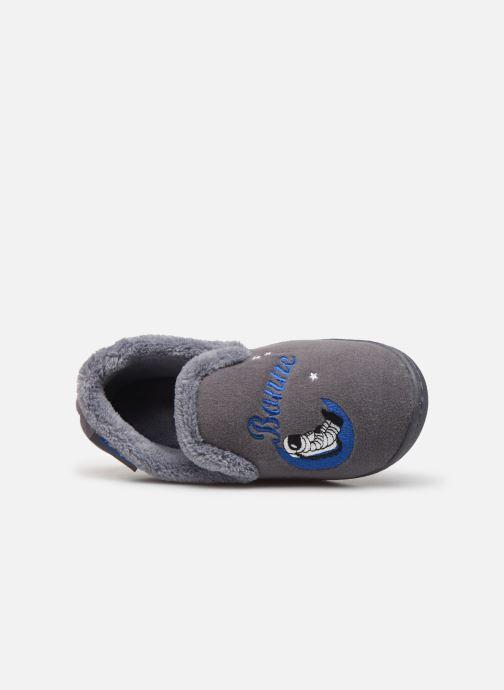 Pantoffels Isotoner Charentaise polyvelours Grijs links