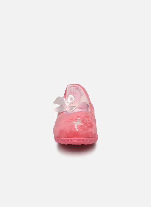 Chaussons Isotoner Ballerine kids Rose vue portées chaussures