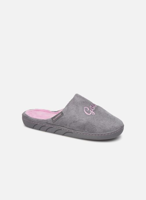 Slippers Isotoner Mule fille Grey detailed view/ Pair view