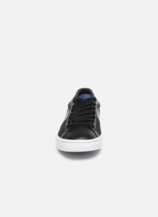 Baskets Fred Perry Lawn Leather Canvas Noir vue portées chaussures
