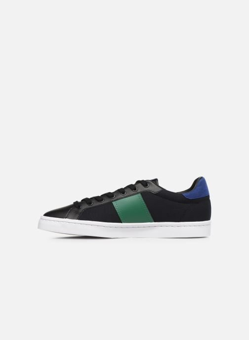 Baskets Fred Perry Lawn Leather Canvas Noir vue face