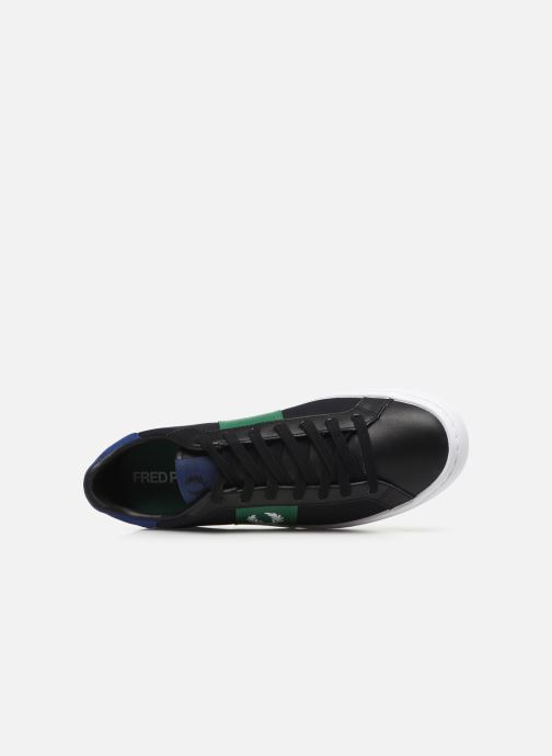 Baskets Fred Perry Lawn Leather Canvas Noir vue gauche