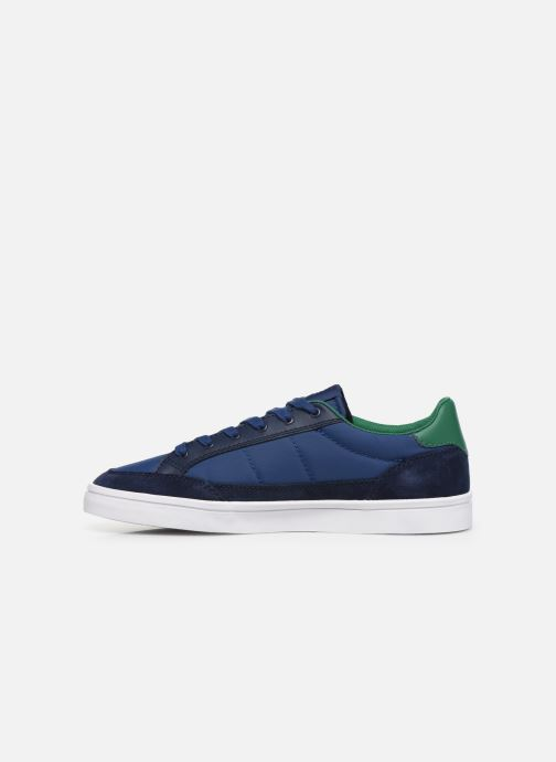Baskets Fred Perry Deuce Poly Suede Leather Bleu vue face