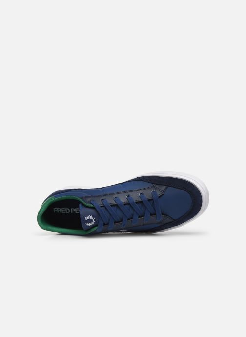 Baskets Fred Perry Deuce Poly Suede Leather Bleu vue gauche