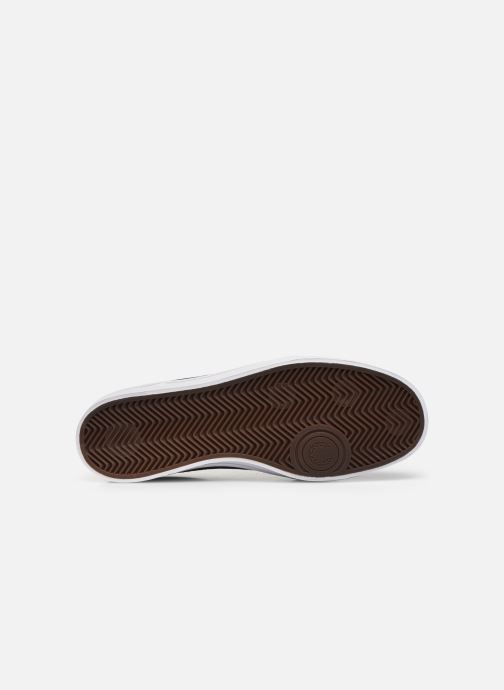 Baskets Fred Perry Deuce Poly Suede Leather Bleu vue haut
