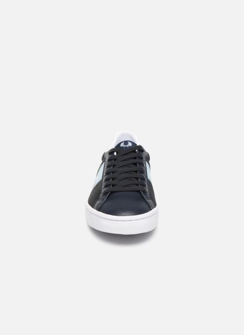 Baskets Fred Perry Lawn Leather Mesh Noir vue portées chaussures