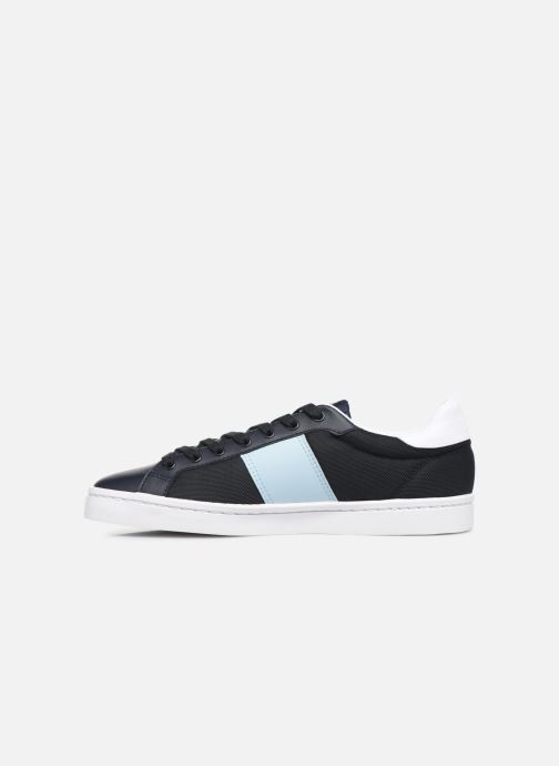 Baskets Fred Perry Lawn Leather Mesh Noir vue face