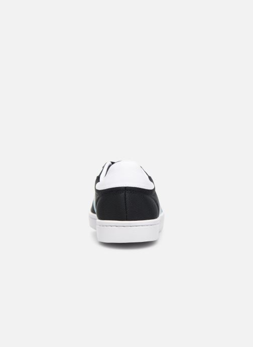 Baskets Fred Perry Lawn Leather Mesh Noir vue droite
