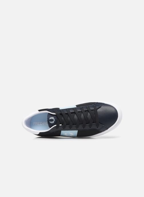 Baskets Fred Perry Lawn Leather Mesh Noir vue gauche