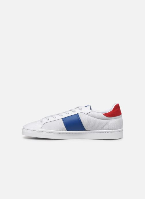 Baskets Fred Perry Lawn Leather Mesh Blanc vue face