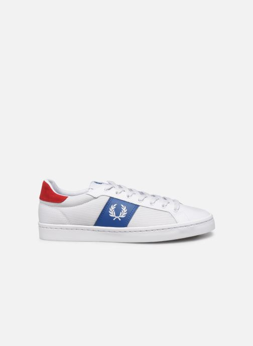 Baskets Fred Perry Lawn Leather Mesh Blanc vue derrière