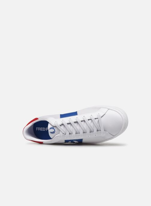 Baskets Fred Perry Lawn Leather Mesh Blanc vue gauche