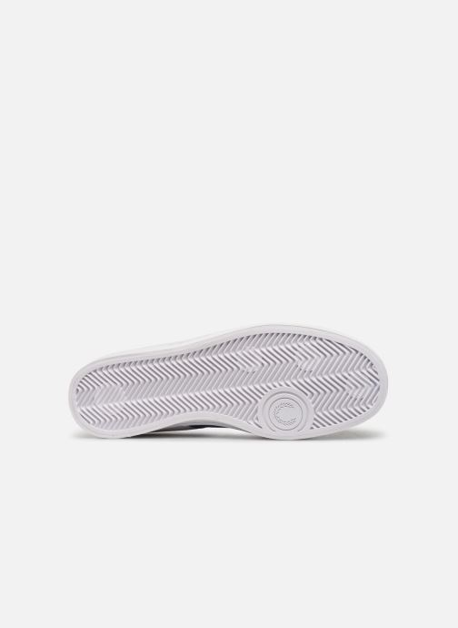 Baskets Fred Perry Lawn Leather Mesh Blanc vue haut