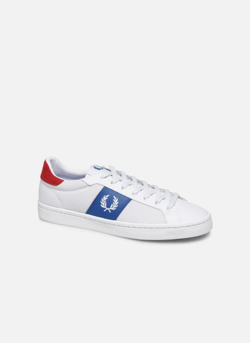Baskets Fred Perry Lawn Leather Mesh Blanc vue détail/paire