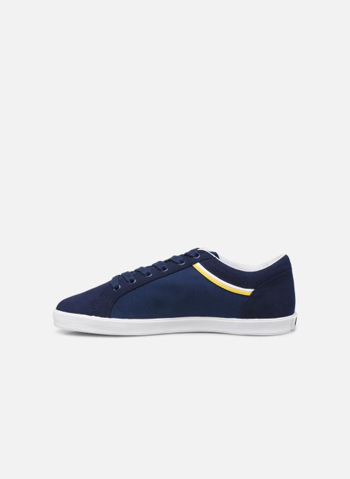 Baskets Fred Perry Baseline Microfibre Canvas Bleu vue face