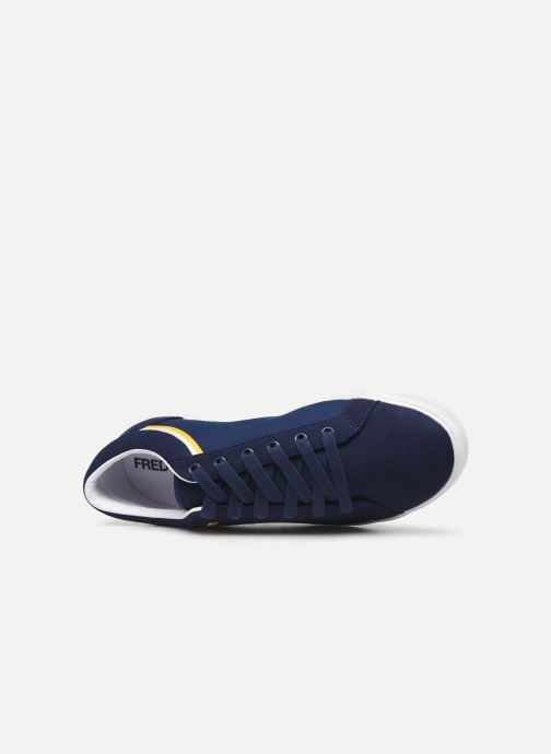 Baskets Fred Perry Baseline Microfibre Canvas Bleu vue gauche