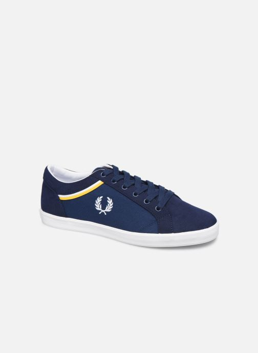 Baskets Fred Perry Baseline Microfibre Canvas Bleu vue détail/paire