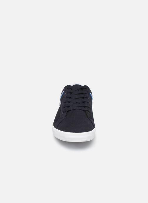 Baskets Fred Perry Baseline Microfibre Canvas Noir vue portées chaussures