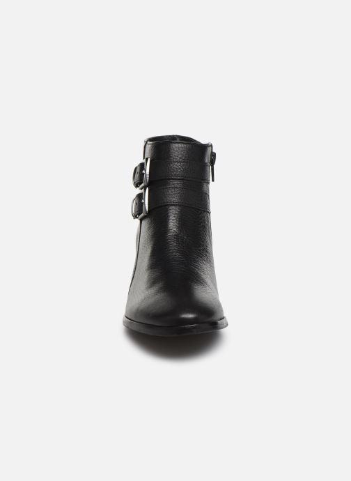 Bottines et boots Georgia Rose Wibuck Soft Noir vue portées chaussures