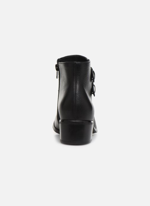 Ankle boots Georgia Rose Wibuck Soft Black view from the right