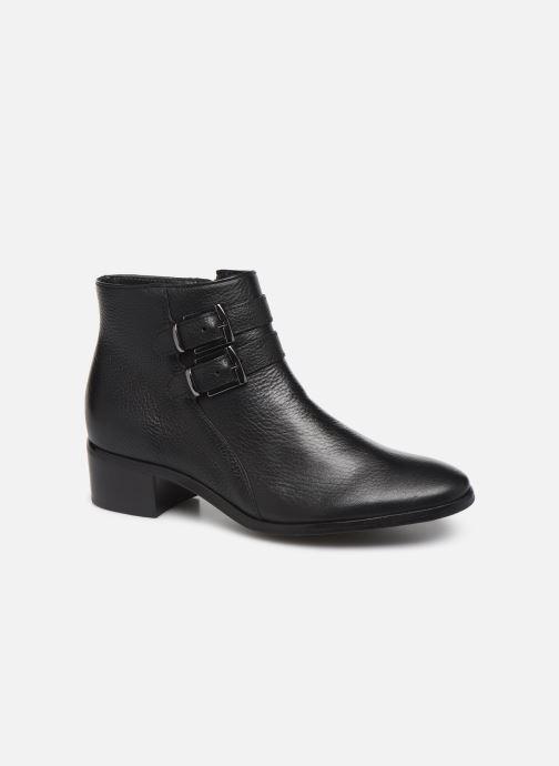 Ankelstøvler Georgia Rose Wibuck Soft Sort detaljeret billede af skoene