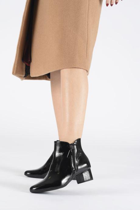 Bottines et boots Georgia Rose Wizip Soft Noir vue bas / vue portée sac