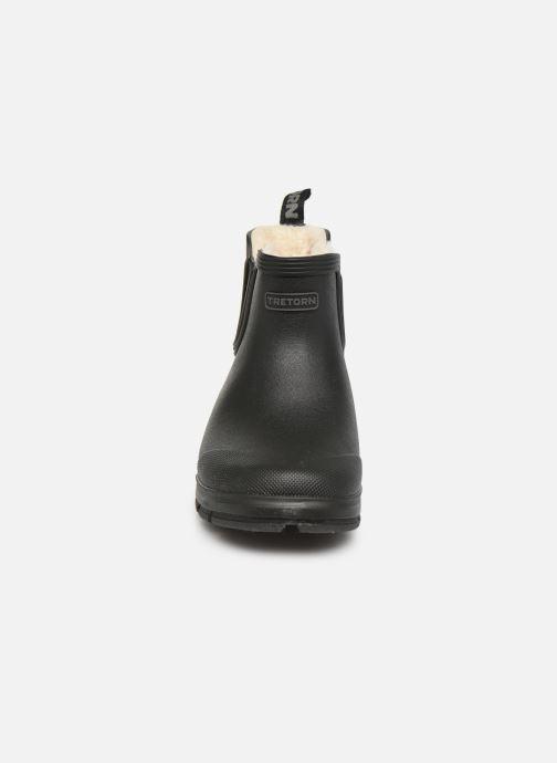 Stiefel Tretorn Aktiv Chelsea Winter schwarz schuhe getragen
