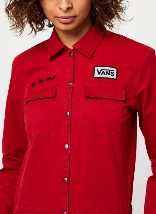 Vêtements Vans Oil Change Overall Rouge vue face