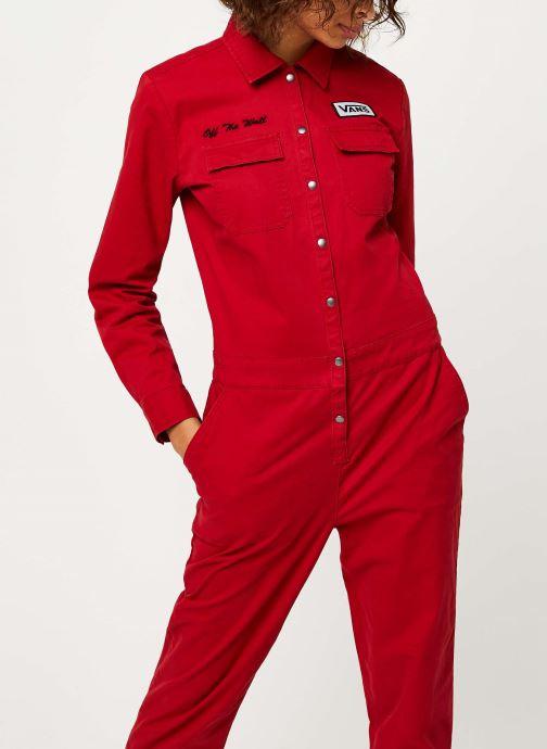 Vêtements Vans Oil Change Overall Rouge vue droite