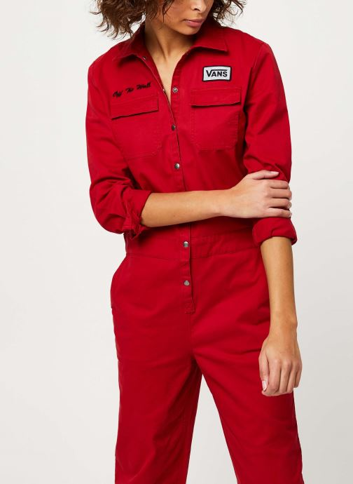 Vêtements Vans Oil Change Overall Rouge vue détail/paire