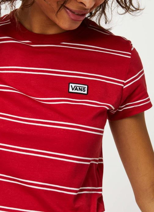 Vêtements Vans Spacey Stripe Rouge vue face