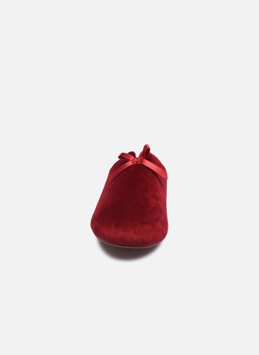 Chaussons Scholl Rachele C Rouge vue portées chaussures