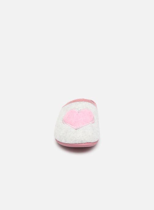 Hausschuhe Scholl Creamy Heart C grau schuhe getragen